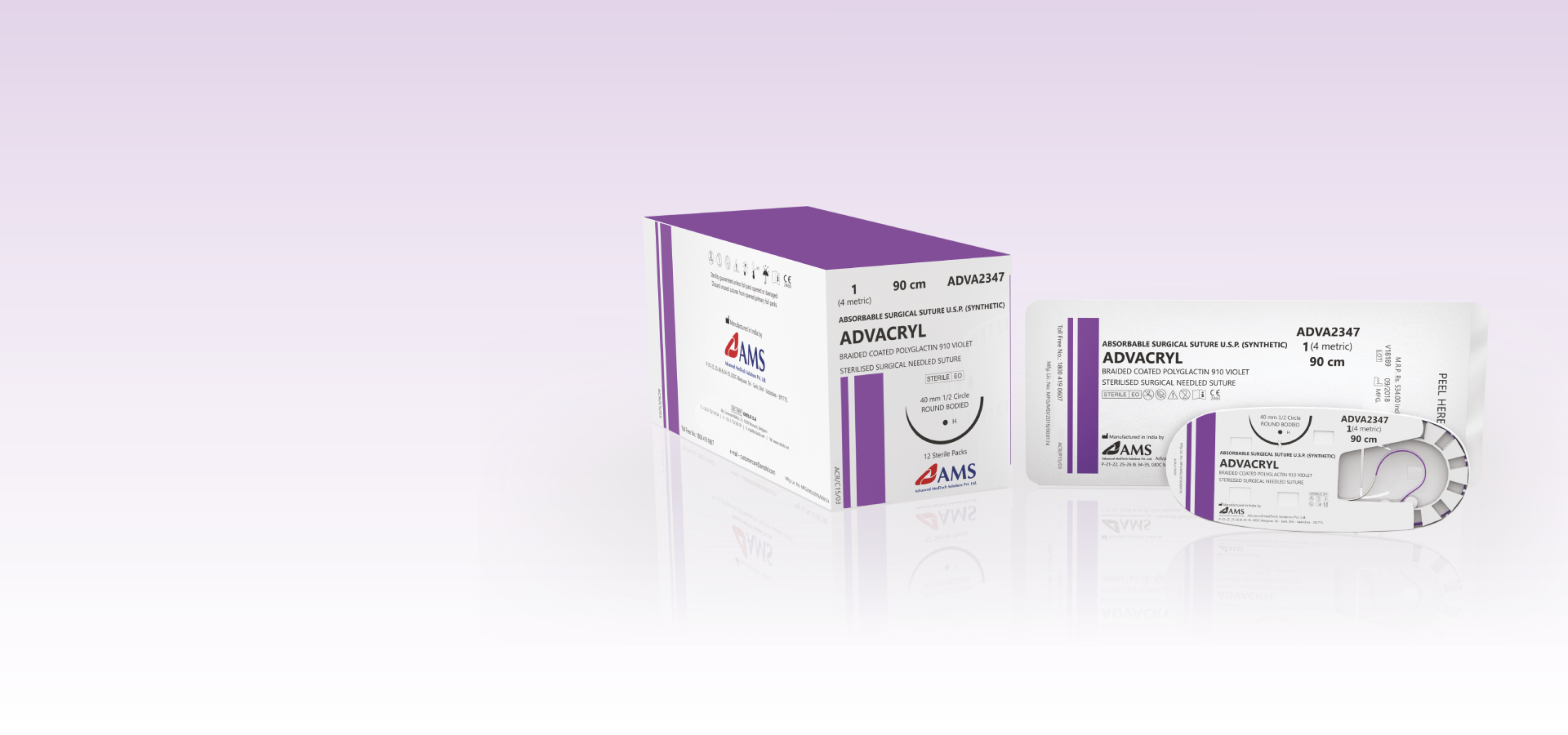 ADVACRYL <span>Polyglactin-910 </span><small>Braided Coated Synthetic Absorbable Surgical Suture</small>