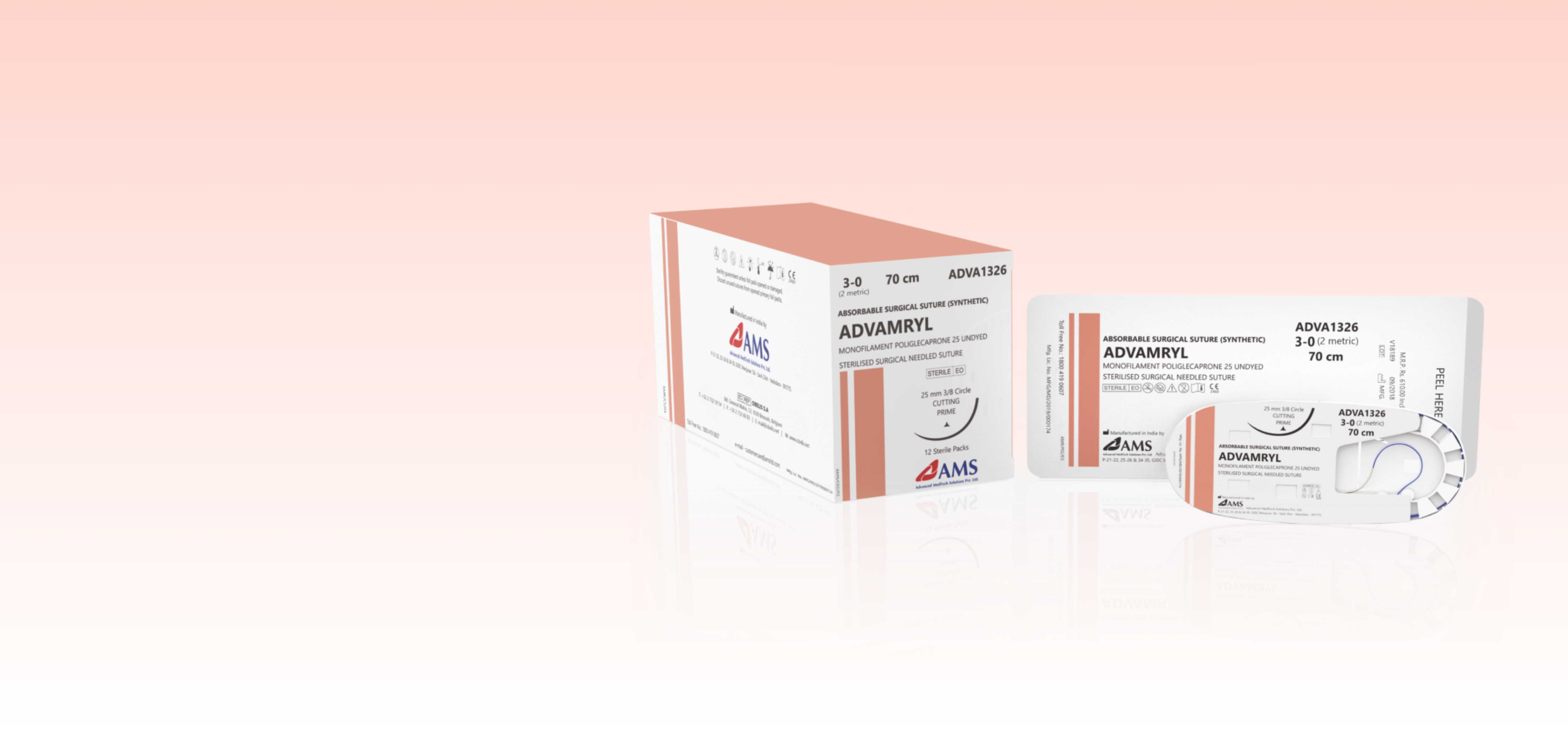 ADVAMRYL <span>Poliglecaprone-25 </span><small>Monofilament Synthetic Absorbable Surgical Suture</small>