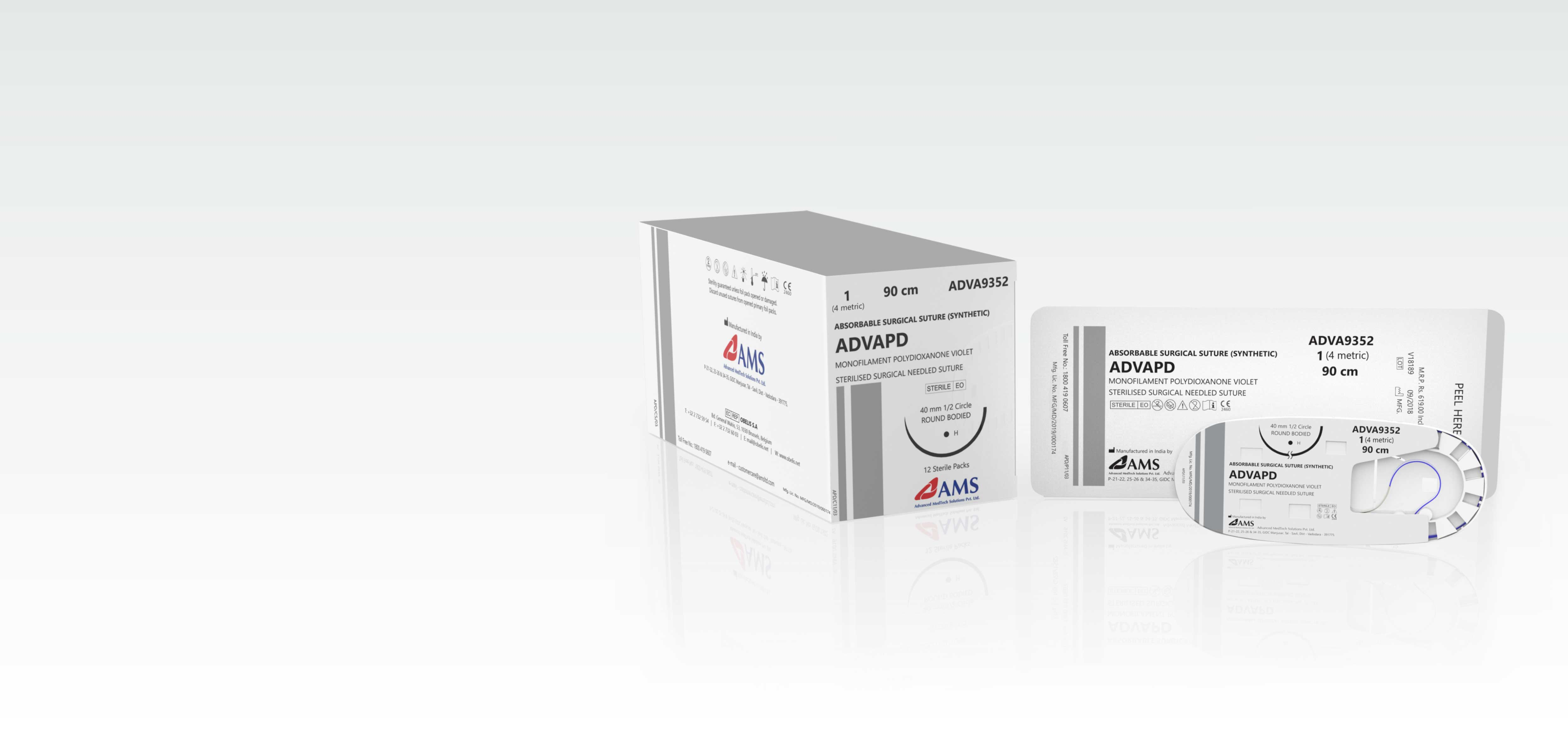 ADVAPD <span>Polydioxanone </span> <small>Monofilament Synthetic Long-term Absorbable Surgical Suture</small>